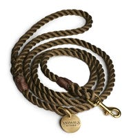 Animals In Charge Rope Leash Olive Dog Lead - Each