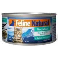 Feline Naturals Beef and Hoki Feast Wet Cat Food - 85g
