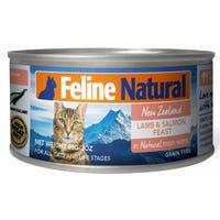 Feline Naturals Lamb and Salmon Feast Wet Cat Food - 85g