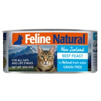 Feline Naturals Beef Feast Wet Cat Food - 85g