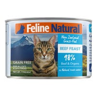 Feline Naturals Beef Feast Wet Cat Food - 170g