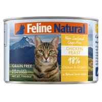 Feline Naturals Chicken Feast Wet Cat Food - 170g