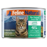 Feline Naturals Lamb Feast Wet Cat Food - 170g