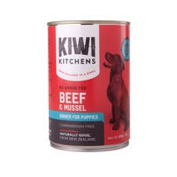 Kiwi Kitchens Puppy Beef and Mussel Wet Dog Food - 375g