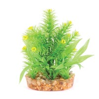 Kazoo Bush with Yellow Flower Artificial Aquarium Plant - Small