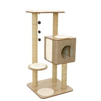 Lulus World Cubox High Base Oak Cat Scratcher - 1.2m