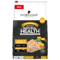 Ivory Coat Wholegrain Puppy Large Breed Turkey and Brown Rice Dry Dog Food - 18kg