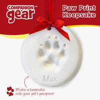 Companion Gear Xmas Paw Print Keepsake - Each