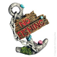 Aqua One Anchor No Fishing Fish Tank Ornament - Each