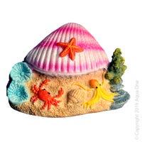 Aqua One Clam On Beach Fish Tank Ornament - Each
