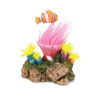 Kazoo Coral with Floating Fish Fish Tank Ornament - Medium