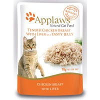 Applaws Feline Chicken and Liver in Jelly Wet Cat Food Pouch - 70g
