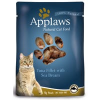 Applaws Feline Tuna with Sea Bream Wet Cat Food Pouch - 70g