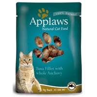 Applaws Feline Tuna with Anchovy Wet Cat Food Pouch - 70g
