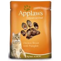 Applaws Feline Chicken and Pumpkin Wet Cat Food Pouch - 70g
