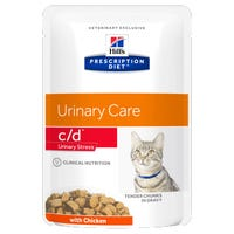 Hill's Prescription Diet Feline C/D Urinary Care Stress Wet Cat Food - 85g