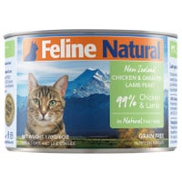 Feline Naturals Chicken and Lamb Feast Wet Cat Food - 170g