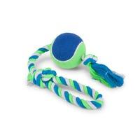 Kazoo Rope Sling Tennis Ball Dog Toy - Large