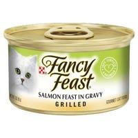 Fancy Feast Grilled Salmon in Gravy Wet Cat Food - 85g