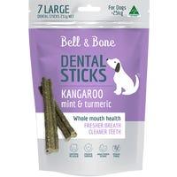 Bell & Bone Kangaroo and Mint Dental Sticks Dog Treats Large - 7pk