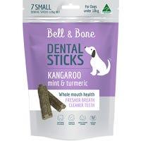 Bell & Bone Kangaroo and Mint Dental Sticks Dog Treats Small - 7pk