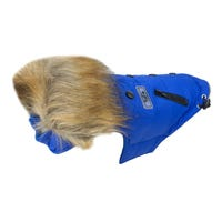 Huskimo Everest Jacket Blue Dog Coat - 60cm