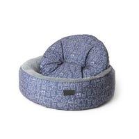La Doggie Vita Indigo Round High Side Dog Bed - Large