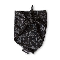 La Doggie Vita Black Bandana - Medium/Large