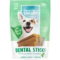 Tropiclean Fresh Breath Vanilla & Mint Dental Sticks Dog Treats - Regular