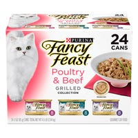 Fancy Feast Classic Beef & Poultry Grilled Wet Cat Food 85g - 24pk