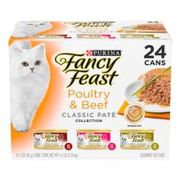 Fancy Feast Poultry & Beef Pate Wet Cat Food 85g - 24pk