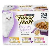 Fancy Feast Poultry & Beef Sliced Wet Cat Food 85g - 24pk