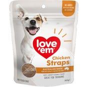 Love Em Chicken Straps Dog Treats - 150g