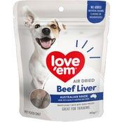 Love Em Air Dried Beef Liver Dog Treats - 90g