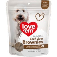 Love Em Liver Brownie Dog Treats - 250g
