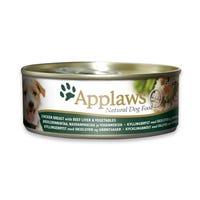 Applaws Chicken & Beef Liver Wet Dog Food - 156g