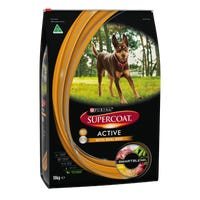 Supercoat Adult Active Beef Dry Dog Food - 18kg