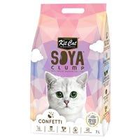 Kit Cat Soya Clump Litter Confetti Cat Litter - 7 Litre