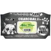 Absorb Plus Charcoal Dog Wipes Aloe Vera 20 x15cm - 80pk