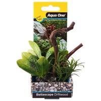 Aqua One Bettascape Lily Leaf On Driftwood Green - Each