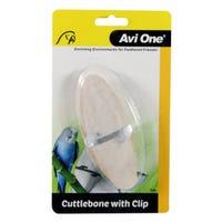 Avi One Cuttlebone With Clip Bird Toy & Treat - Each